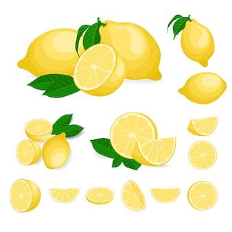 Frutas frescas de limão