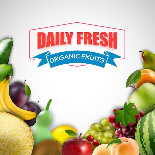Frutas frescas diárias isoladas