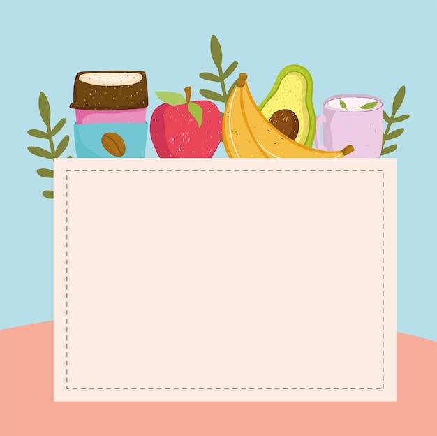 Frutas frescas e bebidas