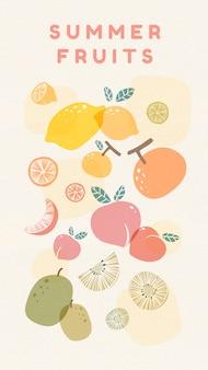 Frutas frescas no verão