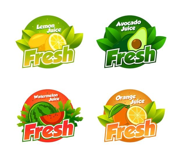 Frutas frescas para logotipo