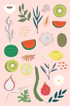 Frutas mistas de verão