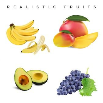 Frutas realistas