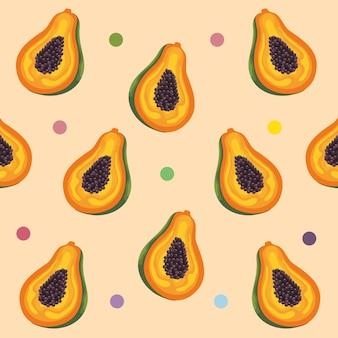 Frutas tropicais de mamão