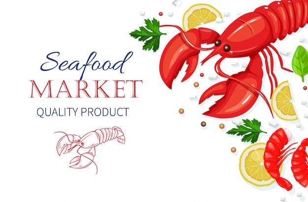 Frutos do mar. conceito de culinária comida saudável.