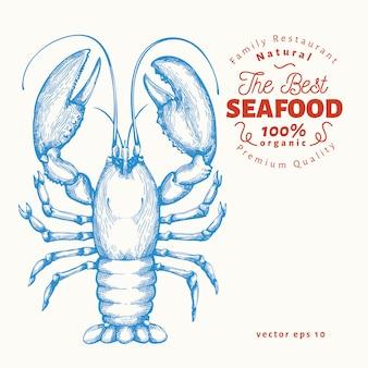 Frutos do mar de lagosta