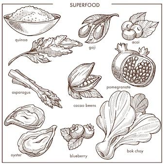 Frutos e vegetais saudáveis