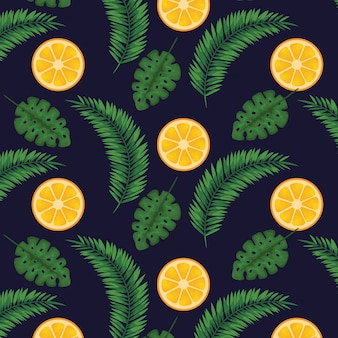 Frutos laranjas com folhas
