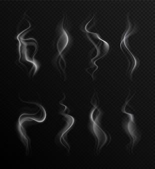 Fumaça realista em transparente
