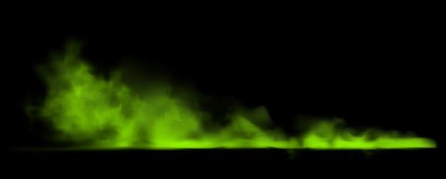 Fumaça verde. ilustração de poluição tóxica