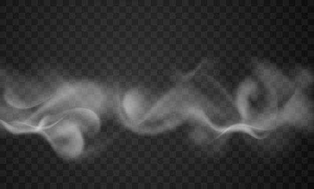 Fume em fundo transparente