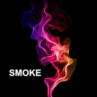 Fume no fundo preto do vetor.