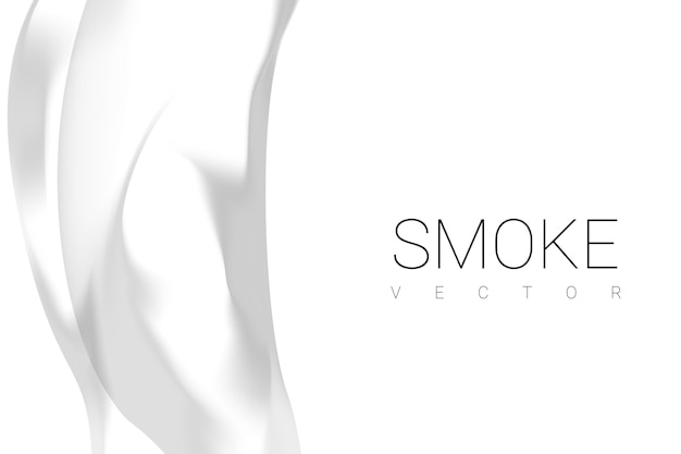 Fumo no fundo branco
