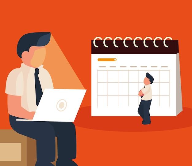Funcionários planejador de estratégia de trabalho