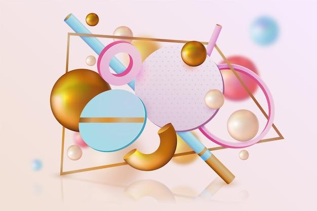 Fundo 3d abstrato colorido