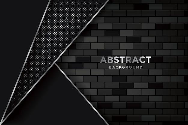 Fundo 3d abstrato com brickwalls escuros realistas