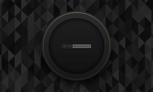 Fundo 3d abstrato com camadas de papel preto