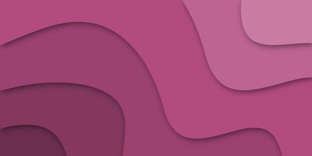 Fundo 3d abstrato com curvas cortadas em papel