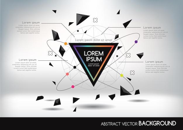 Fundo 3d abstrato com formas geométricas.