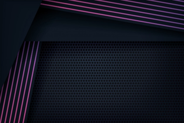 Fundo 3d abstrato com linhas roxas