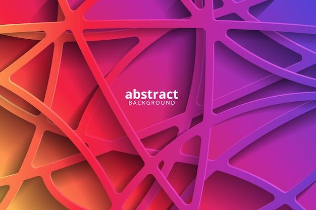 Fundo 3d abstrato com recorte de papel gradiente