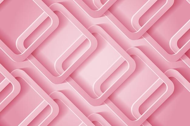 Fundo 3d abstrato com recorte de papel rosa. decoração de recorte de papel realista abstrata texturizada