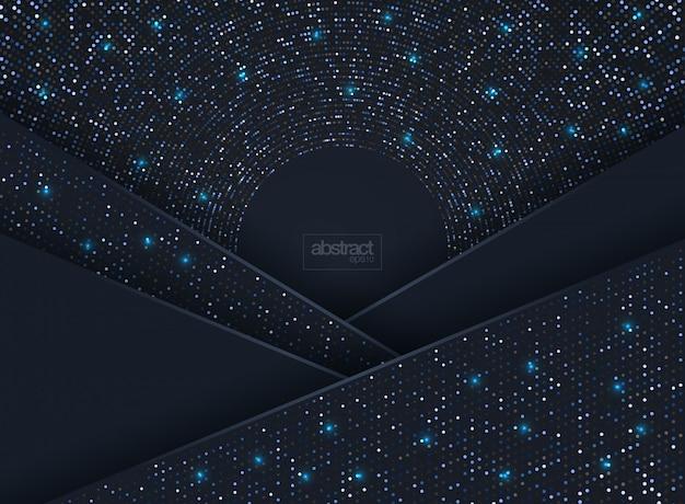 Fundo 3d abstrato com uma combinação de pontos luminosos em estilo 3d