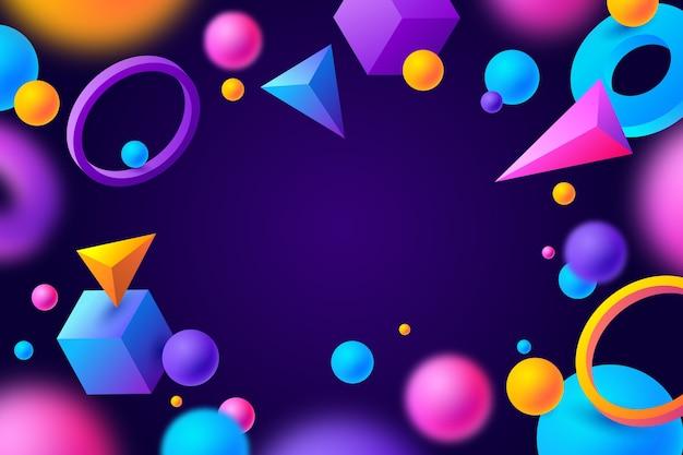 Fundo 3d colorido