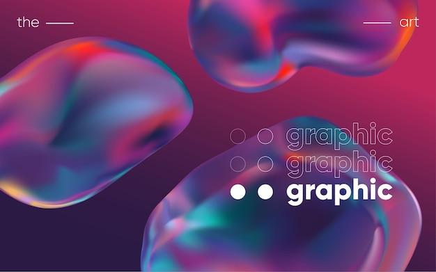 Fundo 3d com formas geométricas gradientes