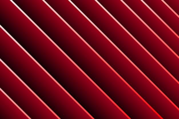 Fundo 3d da listra vermelha