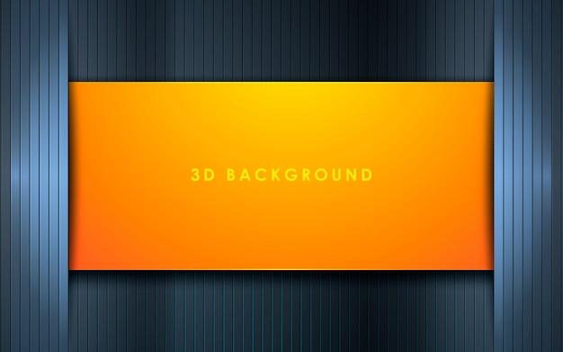 Fundo 3d de textura preto com camada laranja