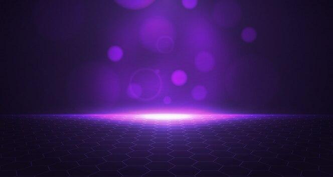 Fundo 3D do hexágono roxo