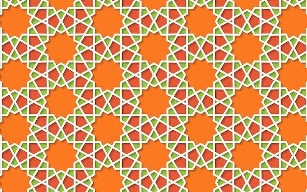 Fundo 3d padrão colorido islâmico