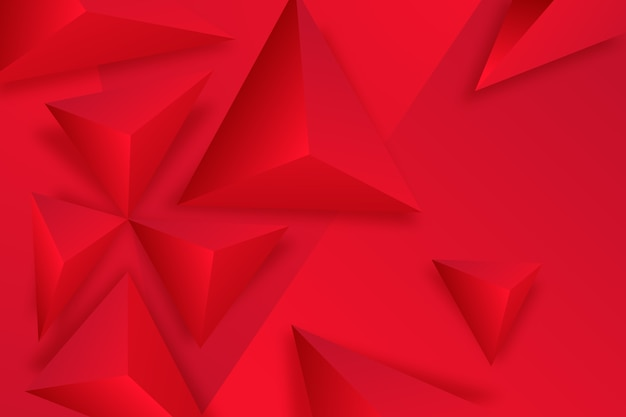 Fundo 3d triângulo vermelho