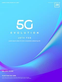 Fundo 5g abstrato, tecnologia de rede 5g