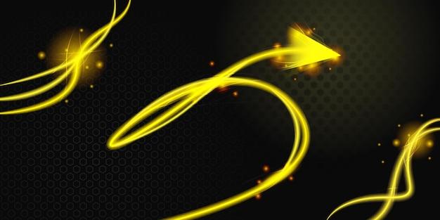 Fundo abstrato 3d amarelo preto moderno
