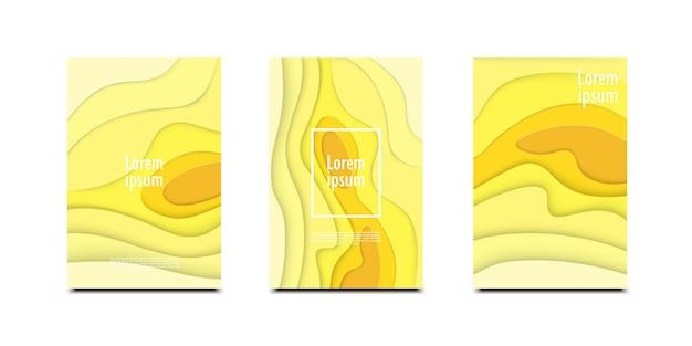 Fundo abstrato 3d com design de formas de corte de papel