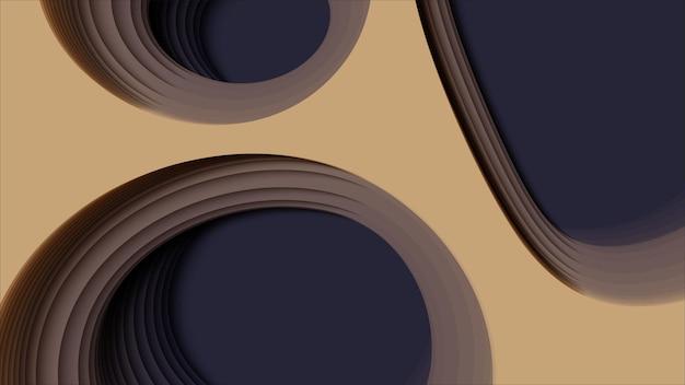 Fundo abstrato 3d com forma de corte de papel. arte de escultura colorida. papel artesanal paisagem de desfiladeiro de antílope com cores gradientes