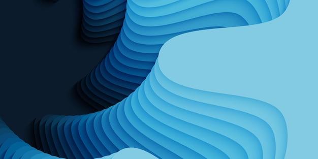 Fundo abstrato 3d com forma de flor de corte de papel