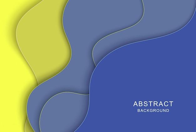Fundo abstrato 3d com formas de corte de papel. arte de escultura colorida