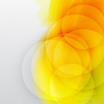 Fundo abstrato amarelo com círculos.