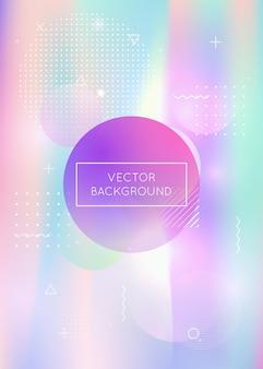 Fundo abstrato. apresentação minimalista. elementos iridescentes leves. pontos simples. textura suave violeta. fluido líquido. vetor mágico. flyer de verão. fundo abstrato azul