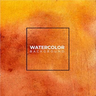 Fundo abstrato aquarela laranja, pintura à mão.