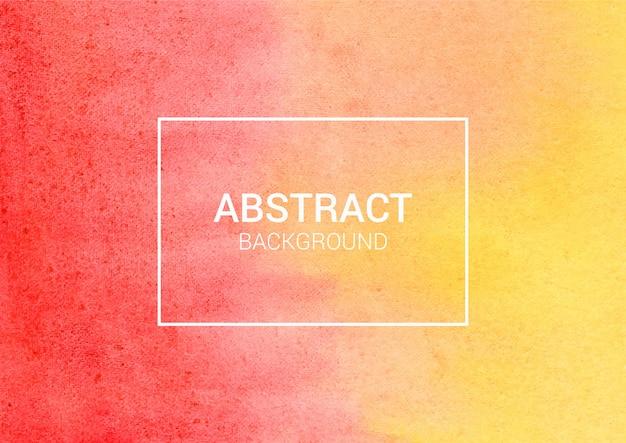 Fundo abstrato aquarela vermelho e amarelo