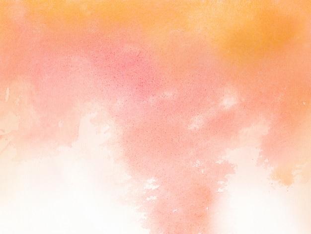 Fundo abstrato aquarela vermelho e laranja
