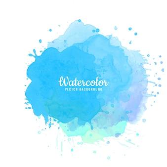 Fundo abstrato azul aquarela respingo