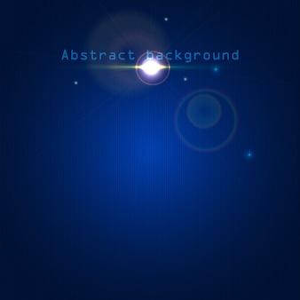 Fundo abstrato azul com efeitos de luz e linhas