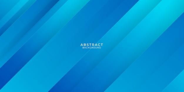 Fundo abstrato azul com formas de linhas 3d