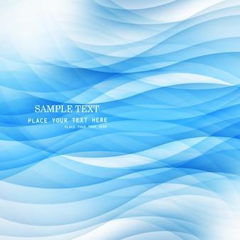 Fundo abstrato azul com ondas