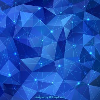 Fundo abstrato azul com triângulos